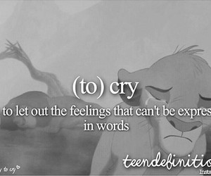 cry, sad, and to cry image