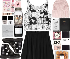 black and white, Polyvore, and candy image