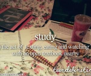 study and food image