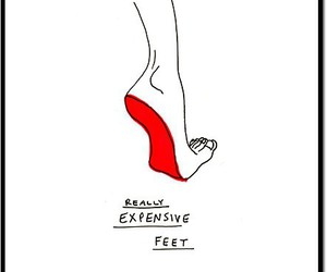 feet, louboutin, and funny image