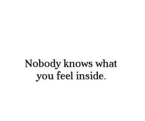 quote, sad, and nobody image