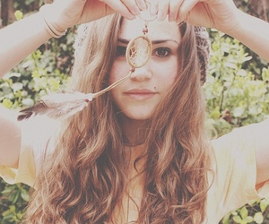 girl, hair, and dream catcher image