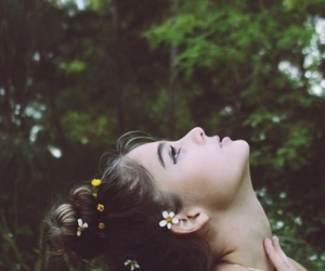 girl, hair, and flower child image