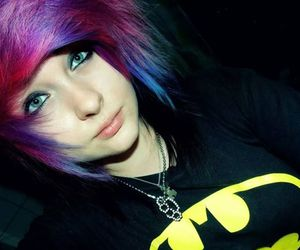 dyed hair, girl, and scene hair image