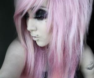 pink hair, scene queen, and pastel goth image