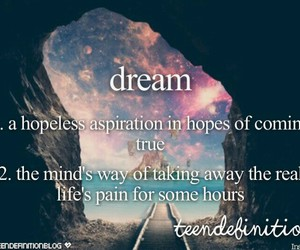 Dream and definition image