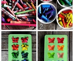 crayons, diy, and ideas image