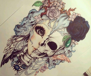 drawing, flowers, and tattoo idea image
