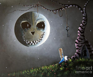 alice in wonderland, creepy, and art image