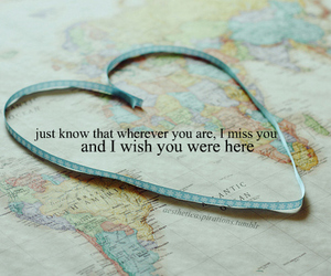 quote, distance, and heart image
