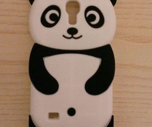 panda, iphone, and phone image