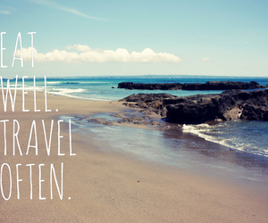quote, travel, and sea image