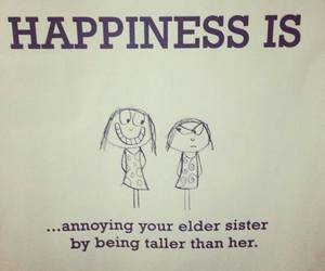 sisters, happiness, and quote image