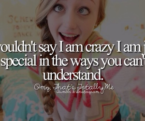 crazy, girl, and special image