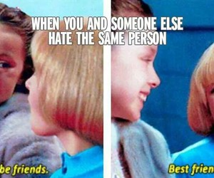 hate, friends, and best friends image