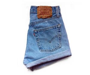 denim, levis, and shorts image