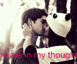 boy, hug, and thought image