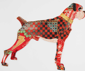 art, Collage, and dog image