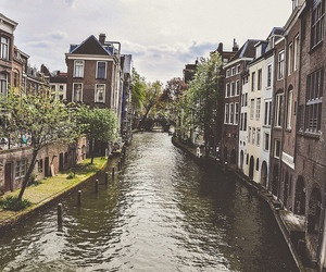 netherlands, canal, and holland image