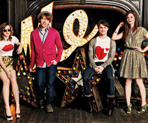 cast, daniel radcliffe, and emma watson image