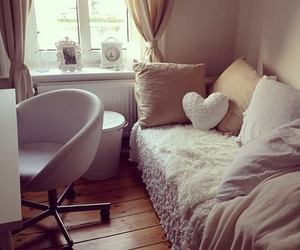 bedroom, white, and beige image