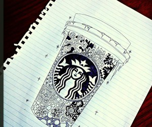 starbucks and drawing image