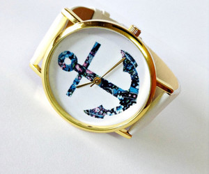 anchor, girl, and watch image
