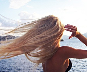 beach, beautiful, and blonde image