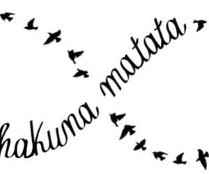 hakuna matata, infinity, and bird image