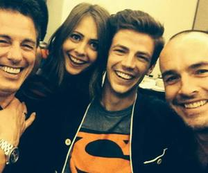 arrow, john barrowman, and willa holland image