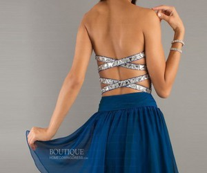 blue, dresses, and homecoming image