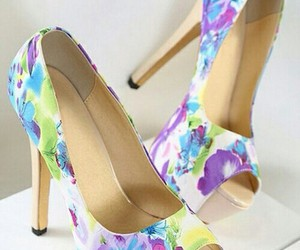 heels, shoes, and colourful image