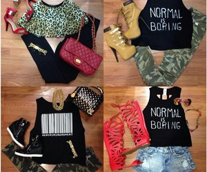 cheetah, street, and clothes image
