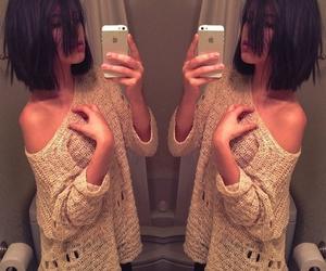 hair, iphone, and short hair image