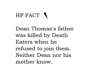 harry potter, dean thomas, and hp fact image