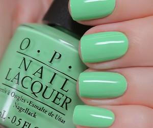 nails, green, and opi image