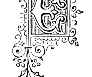 e, capital letter, and initial letter image