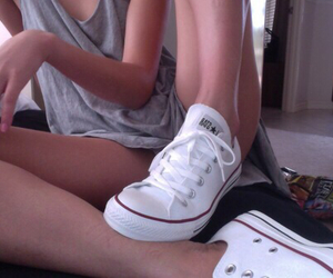 converse, girl, and sexy image