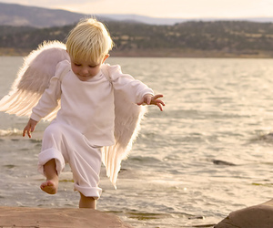 angel, baby, and boy image