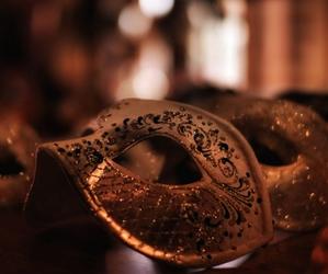 mask, light, and luxury image