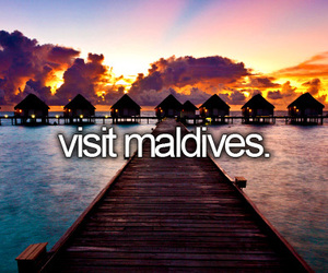 Maldives, travel, and quotes image