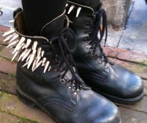 boots, fashion, and spikes image