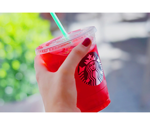 summer, nails, and red image