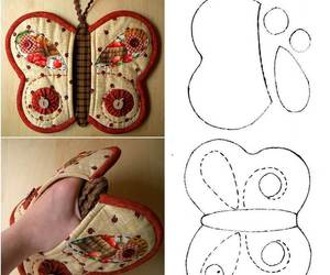 diy, butterfly, and potholder image