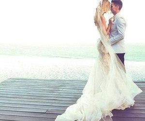 wedding, love, and wedding dress image