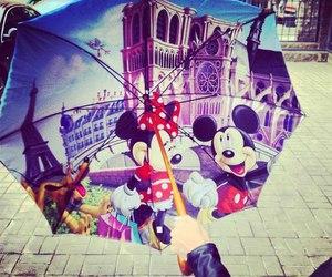 disney, umbrella, and mickey image