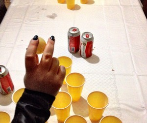 beer, beerpong, and Budweiser image
