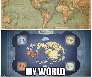 avatar, map, and My World image