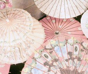 pink, umbrella, and japan image