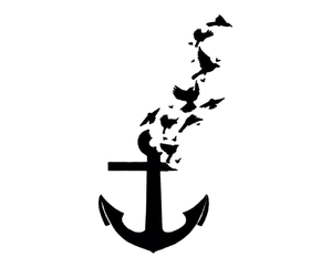 bird, anchor, and overlay image